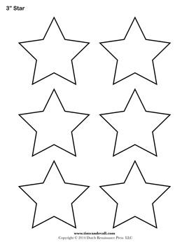 Printable Star Templates