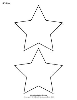 Blank Star Stencil