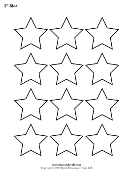 image relating to Printable Star Stencil called Printable Star Templates - No cost Obtain