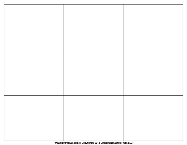 Blank Flash Card Templates