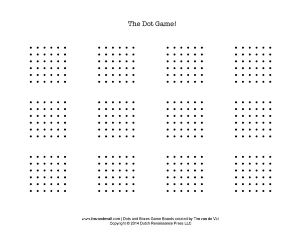 Dots and Boxes Printable