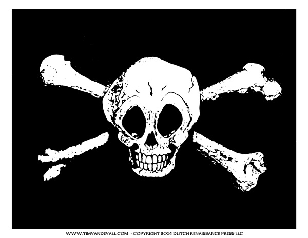 Pirate Flag for Pirate Birthday Party