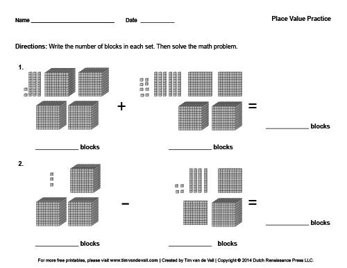 Place Value Worksheet PDF