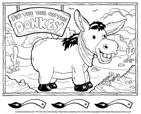 pin the tail on the donkey template