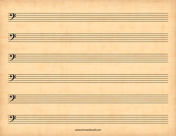 free sheet music template