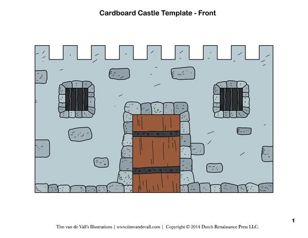 cardboard castle template