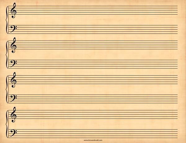 blank sheet music