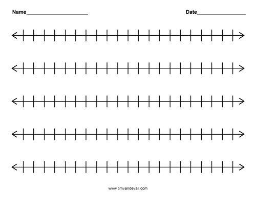 blank number line templates