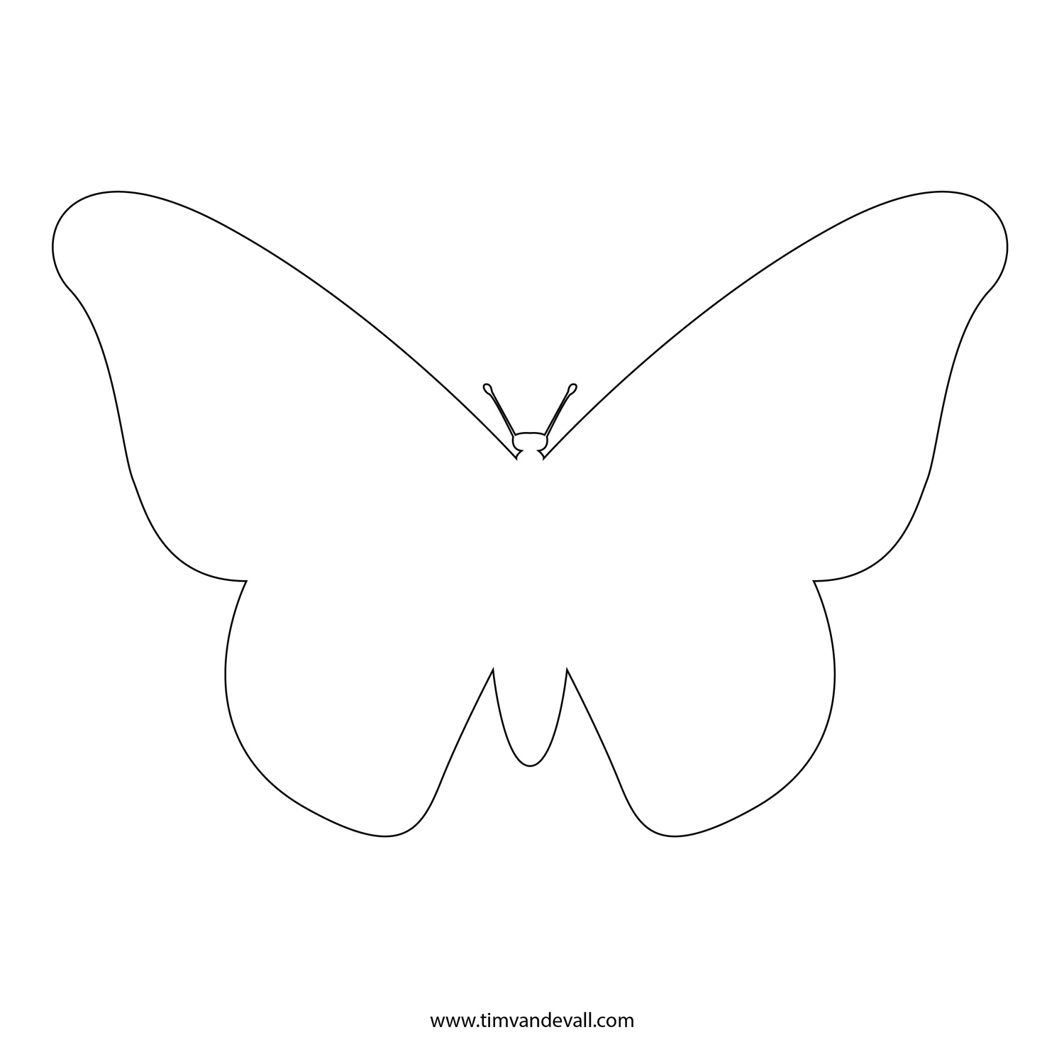 free butterfly stencil | monarch butterfly outline and silhouette