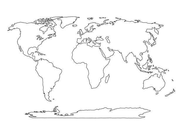 blank world map template