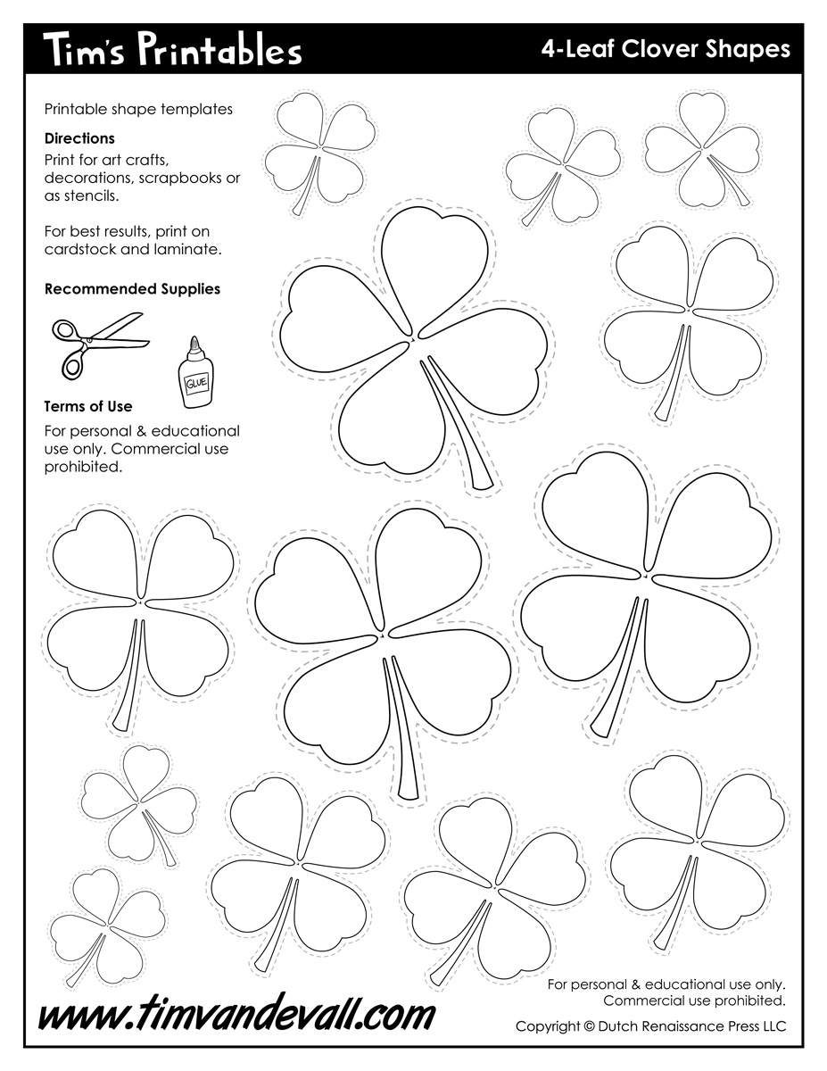4 leaf clover templates