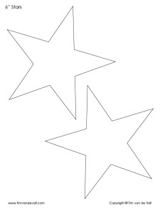 6 inch star template shape