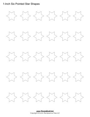 six pointed star shapes
