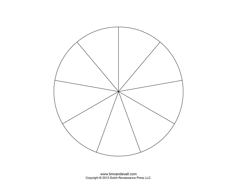 Piece Pie 8 Blank Chart