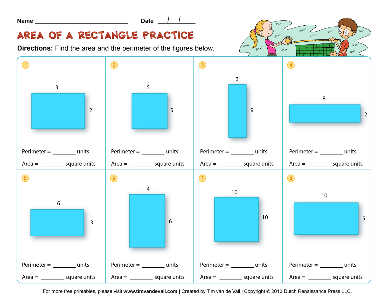 worksheet Perimeter Worksheets For 3rd Grade area and perimeter worksheet 3rd grade free worksheets library grade