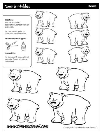 bear templates