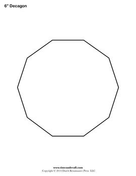 Printable Decagon Shape