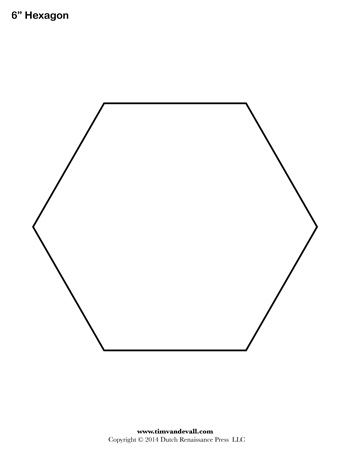 hexagon template 6 inch tim s printables