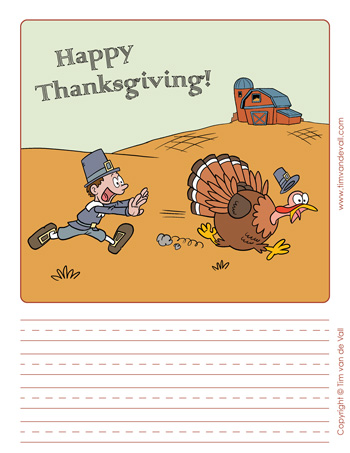 blank thanksgiving writing paper template