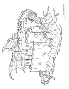 Castle Coloring Page #3