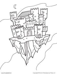 Castle Coloring Page #4