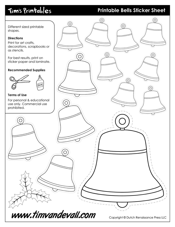 Christmas Bell Templates