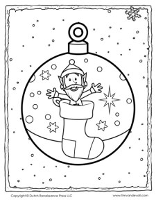 Christmas Holiday Coloring Page