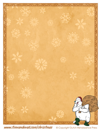 Printable Christmas Paper Template