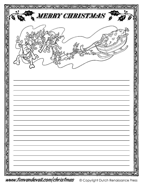Christmas Writing Paper 1