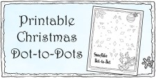 Christmas Dot-to-Dots for Kids - Printable Holiday Connect the Dots