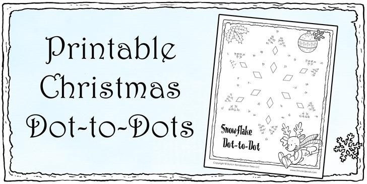 Christmas Dot To Dot For Kids Printable Holiday Connect The Dots