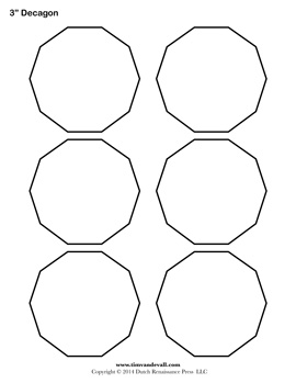 Printable Decagon Templates