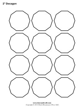 Printable Decagon Outline