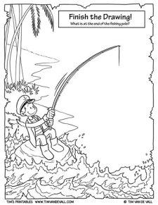 Finish the Drawing - Fishing