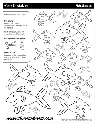 Fish Shape Printables