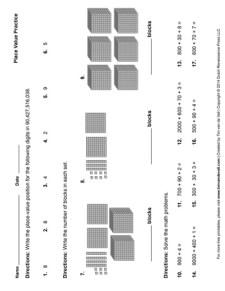 Place Value Worksheet #2