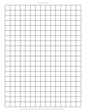 1/2 Inch Printable Graph Paper, Letter PDF