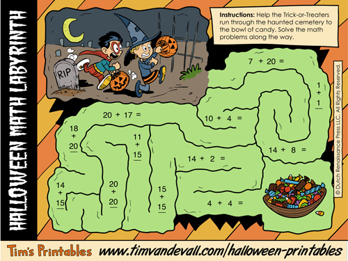 Halloween Addition Worksheet