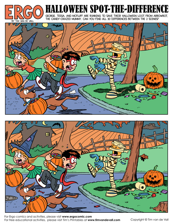 halloween spot-the-difference activity