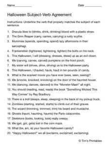 Halloween-Subject-Verb-Agreement-Worksheet