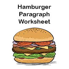 Hamburger Graphic Organizers Hamburger Paragraph Template