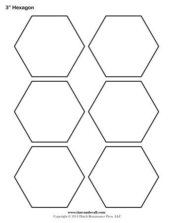 hexagon template 3 inch tim s printables