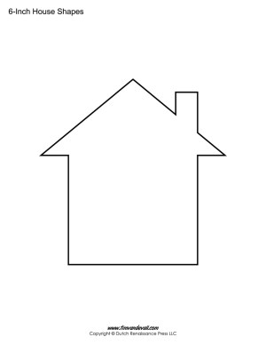 house shape stencil