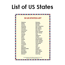 Old Fashioned image regarding printable list of us states