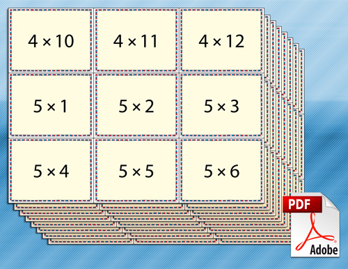 Superb image throughout multiplication flash cards printable 1 12