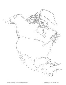 North America Dot-to-Dot