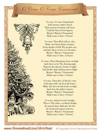 O Come O Come Emmanuel Lyrics | Christmas Lyrics