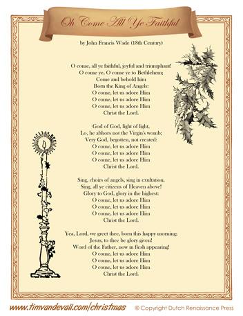 Oh Come All Ye Faithful Lyrics