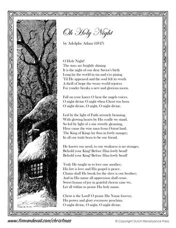 Oh Holy Night Lyrics