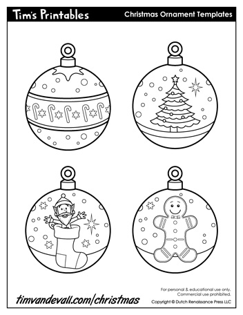 paper christmas ornaments | christmas ornament templates